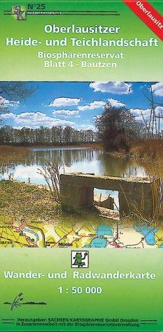 Oberlausitzer Heide- und Teichlandschaft - Blatt 4 Biosphärenreservat/ Bautzen: Wander- und Radwanderkarte. 1:50 000