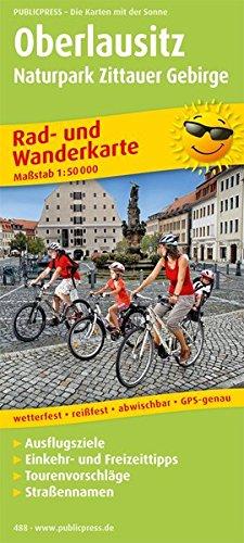 Oberlausitz - Naturpark Zittauer Gebirge: Rad- und Wanderkarte mit Ausflugszielen, Einkehr- & Freizeittipps, wetterfest, reissfest, abwischbar, GPS-genau. 1:50000 (Rad- und Wanderkarte / RuWK)