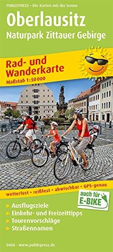 Oberlausitz - Naturpark Zittauer Gebirge: Rad- und Wanderkarte mit Ausflugszielen, Einkehr- & Freizeittipps, wetterfest, reissfest, abwischbar, GPS-genau. 1:50000 (Rad- und Wanderkarte: RuWK)