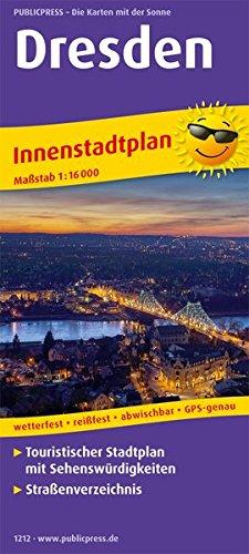 Dresden: Touristischer Innenstadtplan mit Sehenswürdigkeiten und Straßenverzeichnis. 1:16000 (Stadtplan / SP)