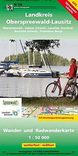 Landkreis Oberspreewald-Lausitz: Wander- und Radwanderkarte 1:50 000 GPS-Fähig wetterfest-reißfest mit Knotenpunktwegweisung