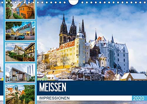 Meißen Impressionen (Wandkalender 2020 DIN A4 quer): Entdecken Sie die Stadt Meißen (Monatskalender, 14 Seiten ) (CALVENDO Orte)