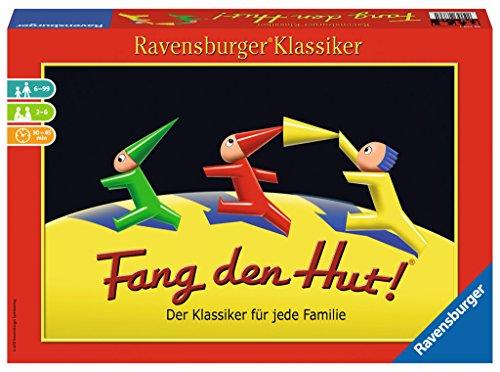 Ravensburger 26736 - Fang den Hut - Hütchenspiel für 2-6 Spieler, Familienspiel ab 6 Jahren, Ravensburger Klassiker
