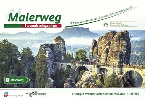 Malerweg - Sächsische Schweiz: Wandertourenführer 1:30000: Elbsandsteingebirge. Wandertourenführer