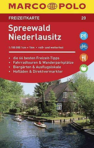 MARCO POLO Freizeitkarte Spreewald, Niederlausitz 1:100 000: Toeristische kaart 1:100 000