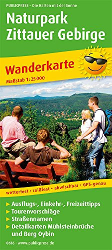 Naturpark Zittauer Gebirge: Wanderkarte mit Ausflugszielen, Einkehr- & Freizeittipps, wetterfest, reißfest, abwischbar, GPS-genau. 1:25000 (Wanderkarte: WK)
