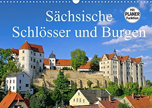 Sächsische Schlösser und Burgen (Wandkalender 2022 DIN A3 quer)