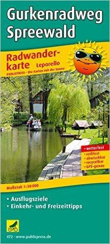 Radwanderkarte Gurkenradweg Spreewald: mit Ausflugszielen, Einkehr- & Freizeittipps, wetterfest, reissfest, abwischbar, GPS-genau. 1:50000 ( Folded Map, 25. August 2008 )