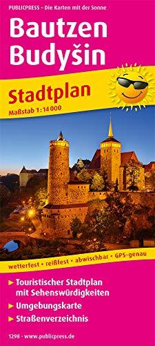 Bautzen, Budyšin: Touristischer Stadtplan mit Sehenswürdigkeiten und Straßenverzeichnis. 1 : 14 000 (Stadtplan: SP)