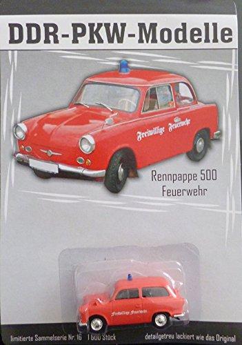 DDR PKW-Modell - Trabant 500 Feuerwehr - Nr. 16
