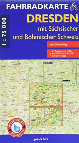 Fahrradkarte Dresden mit sächsischer und böhmischer Schweiz: (wasser- und reißfest) (Fahrradkarten)