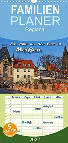 Das Jahr an der Elbe in Meißen (Wandkalender 2022, 21 cm x 45 cm, hoch)