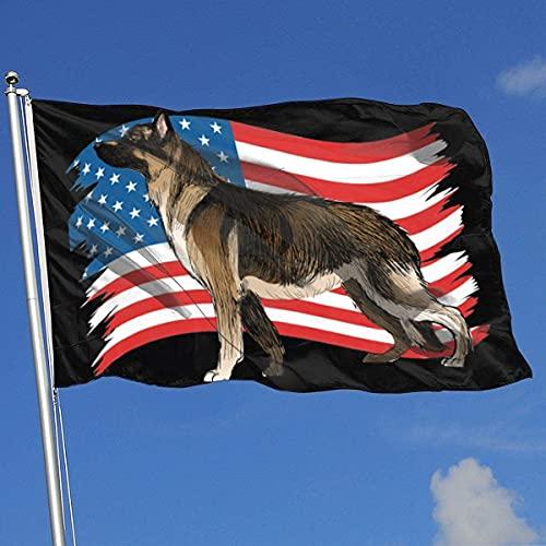 Flagge 3X5 Ft Deutscher Schäferhund Flagge Für Outdoor Indoor Home House Decor Durable Garden Flag Custom