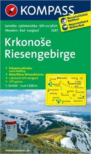 Riesengebirge / Krkonose: Wanderkarte mit Naturführer tschechisch /deutsch, Radrouten und Loipen. GPS-genau. 1:50000 (KOMPASS-Wanderkarten) ( Folded Map, März 2015 )