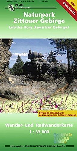 Naturpark Zittauer Gebirge - Luzicke Hory (Lausitzer Gebirge): Wander- und Radwanderkarte 1: 33 000 GPS-fähig, wetterfest reißfest