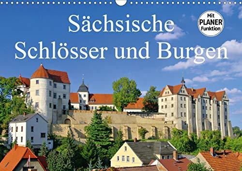 Sächsische Schlösser und Burgen (Wandkalender 2021 DIN A3 quer)