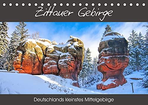 Zittauer Gebirge - Deutschlands kleinstes Mittelgebirge (Tischkalender 2022 DIN A5 quer)