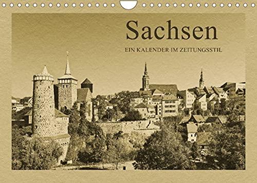 Sachsen - Ein Kalender im Zeitungsstil/CH-Version (Wandkalender 2022 DIN A4 quer)