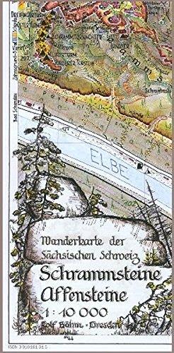 Schrammsteine·Affensteine 1 : 10 000: Lichtenhainer Wasserfall - Großer Winterberg. Wanderkarte der Sächsischen Schweiz
