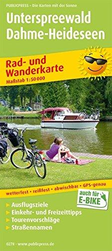 Unterspreewald - Dahme-Heideseen: Rad- und Wanderkarte mit Nebenkarten Königs Wusterhausen und Lübben, mit Ausflugszielen, Einkehr- & Freizeittipps, ... 1:50000 (Rad- und Wanderkarte: RuWK)