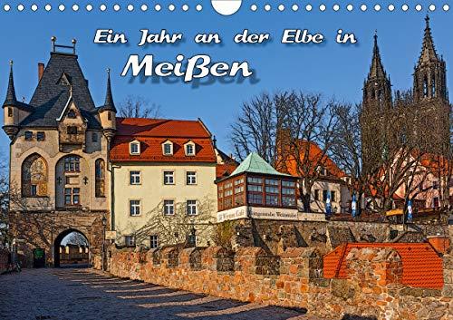 Das Jahr an der Elbe in Meißen (Wandkalender 2021 DIN A4 quer)