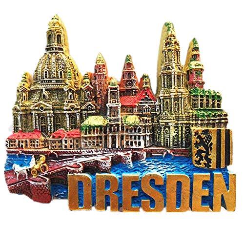 3D Dresden Deutschland Souvenir Kühlschrankmagnet Home & Kitchen Dekoration Magnetaufkleber Dresden Deutschland Kühlschrankmagnet Reise Souvenir Geschenk