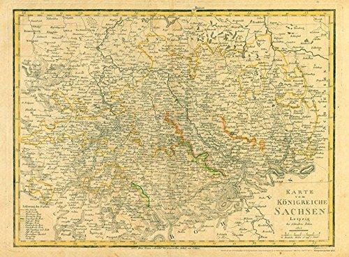 Hist. Karte: Napoleon - KÖNIGREICH SACHSEN 1813
