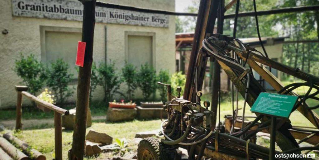 Granitabbaumuseum Koenigshainer Berge eingangsbereich