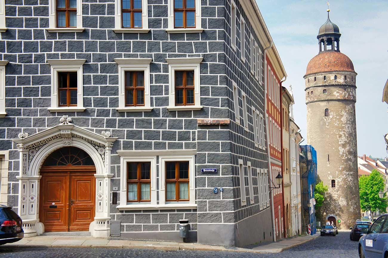 Der Görlitzer Nikolaiturm zwischen Alststadt und Nikolaiviertel