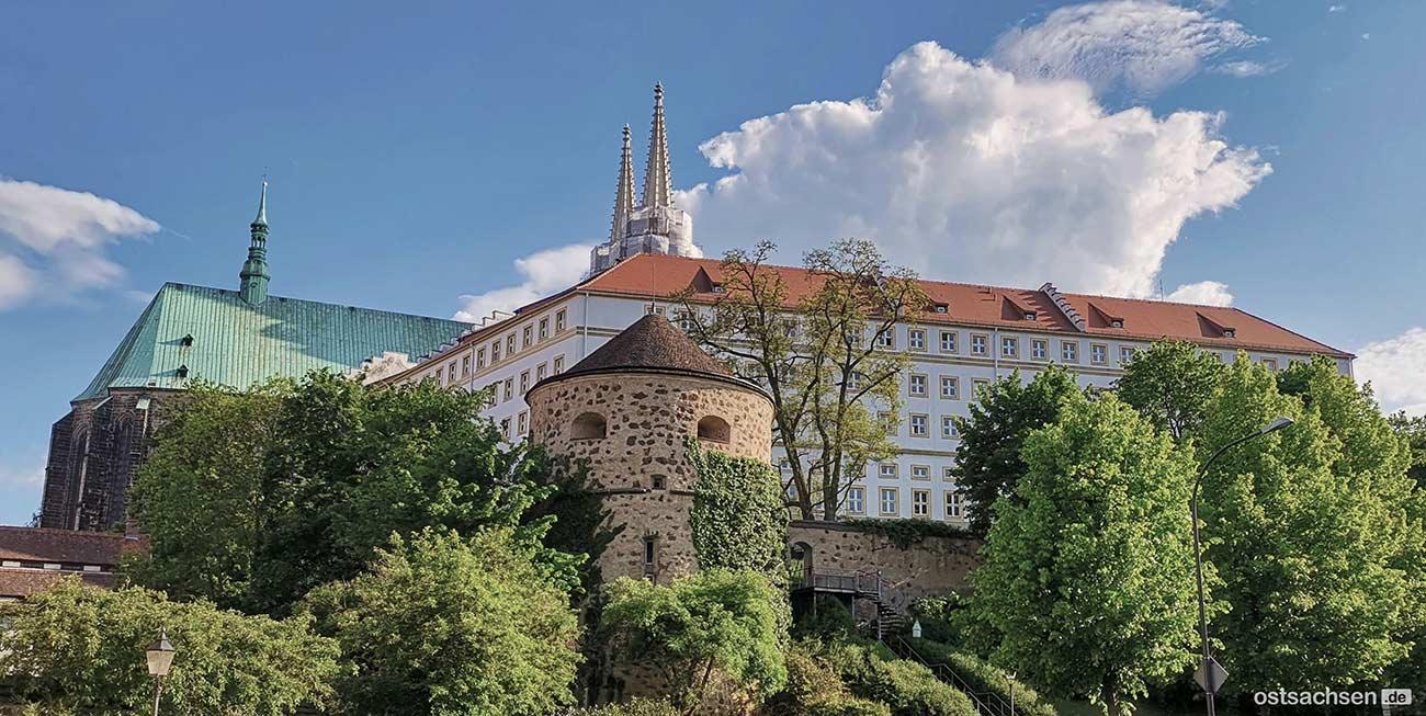 Nikolaizwinger-und-Vogtshof mit der alten Stadtmauer, Görlitz