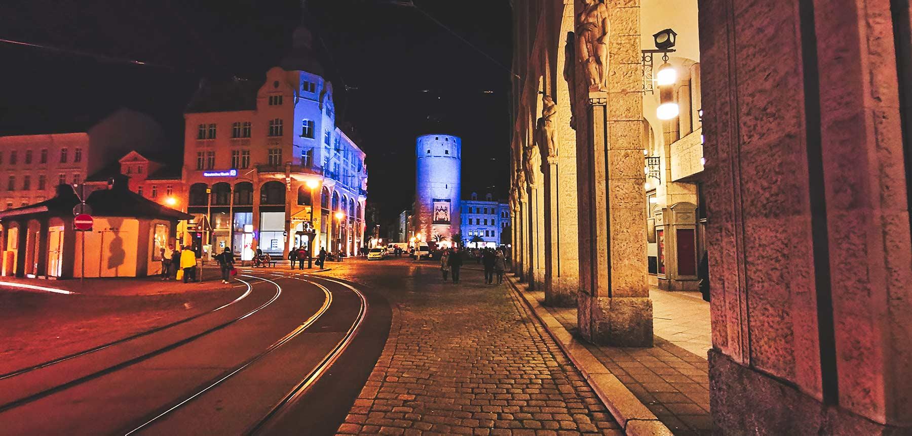 Görlitz bei Nacht, bleuchtete Innenstadt erleben