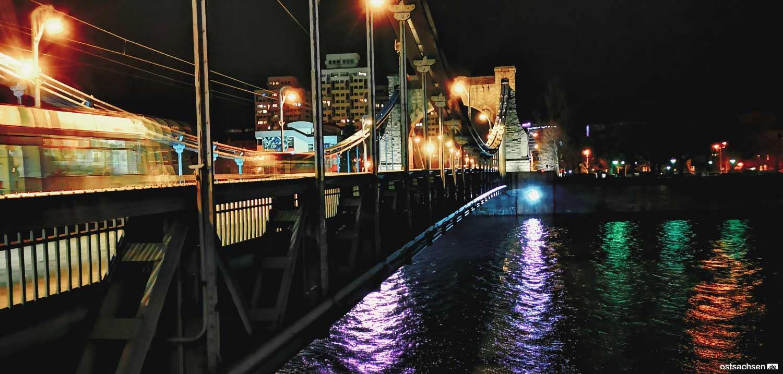 Grunwaldbruecke Most Grunwaldzki Breslau wroclaw bei nacht 001
