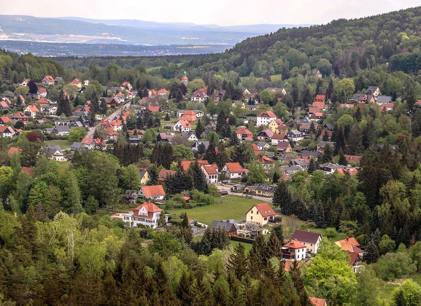 Ausblick Nonnenfelsen im Zittauer Gebirge