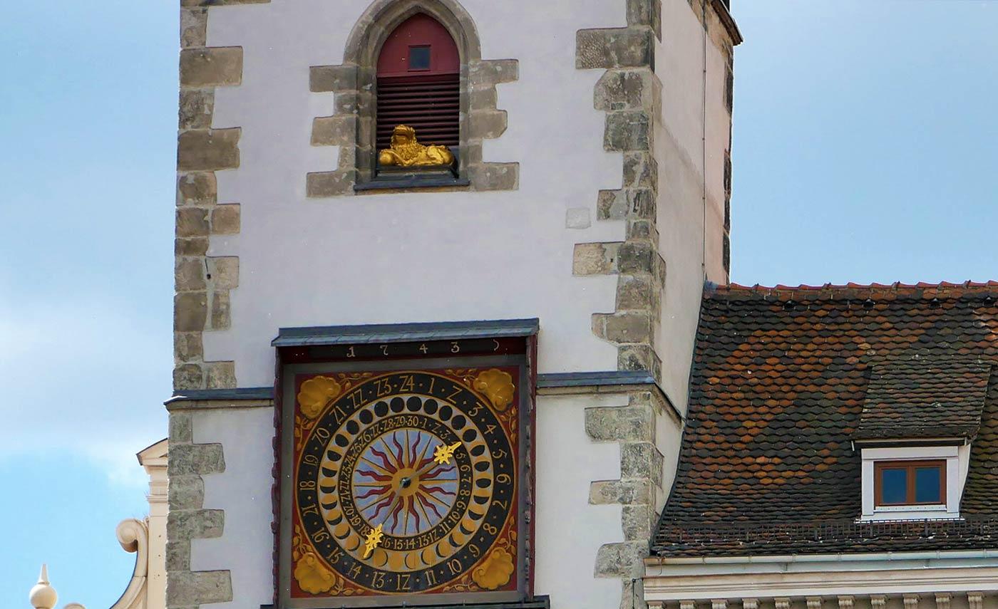 Goldene Görlitzer Löwe auf dem Rathausturm