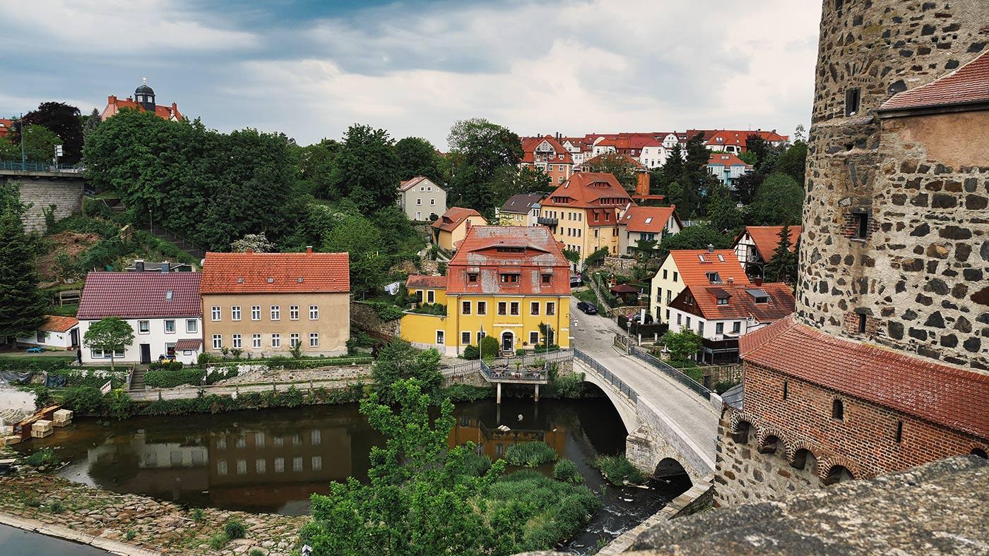 Fahrradtour durch Bautzen an der Ortenburg