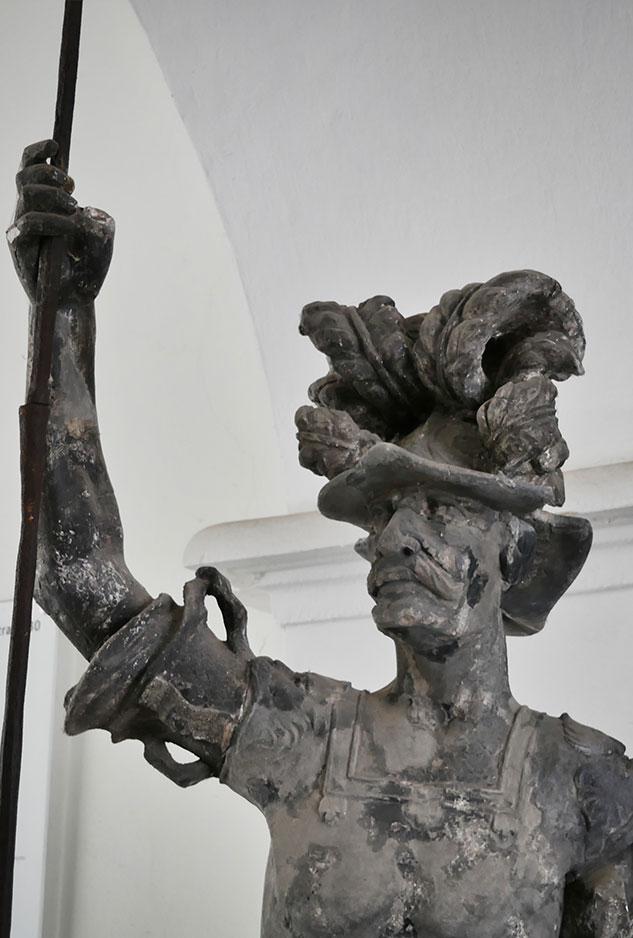 Georgsbrunnen original figur barockhaus