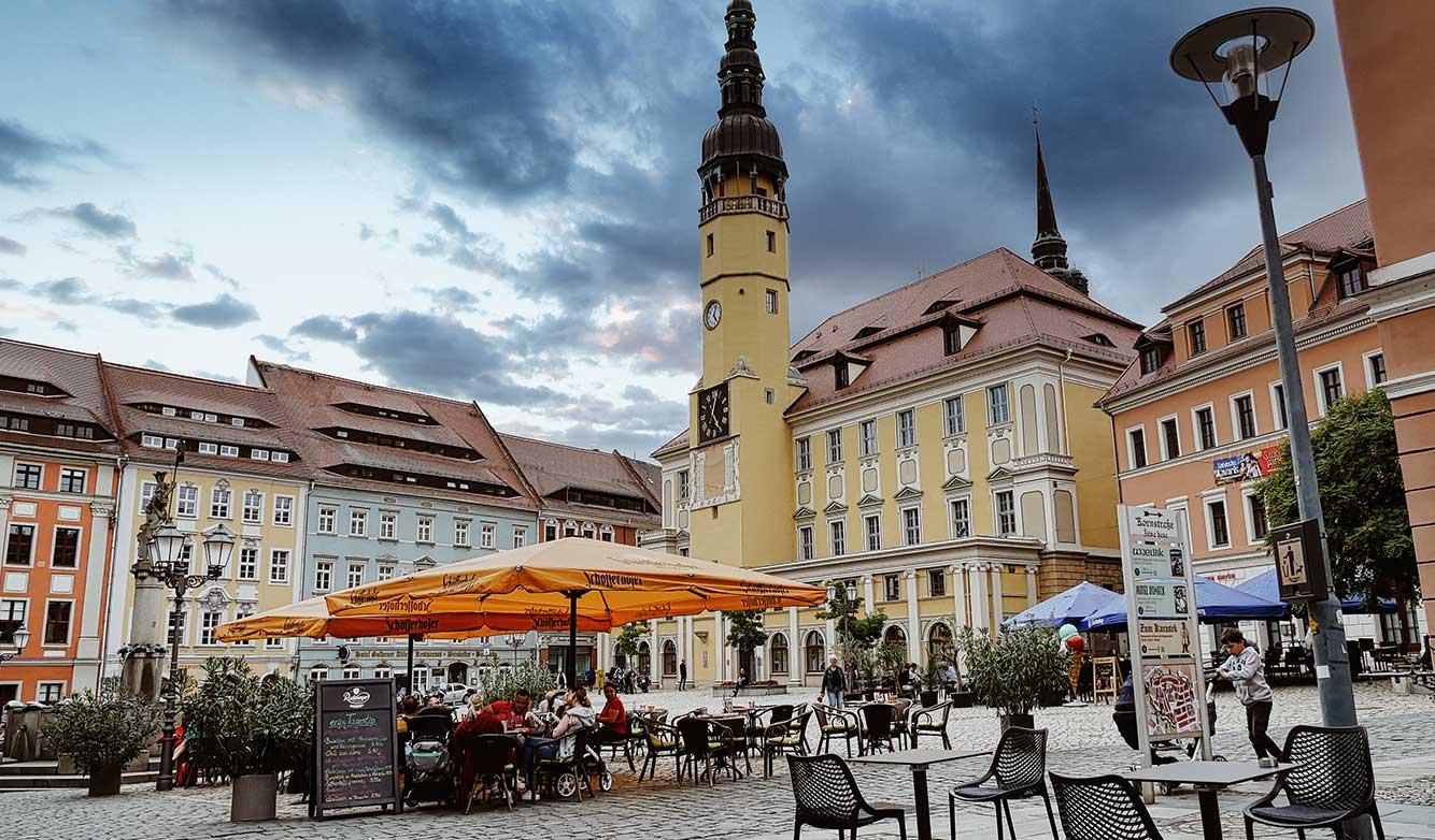 Hauptmarkt und Rathaus Bautzen