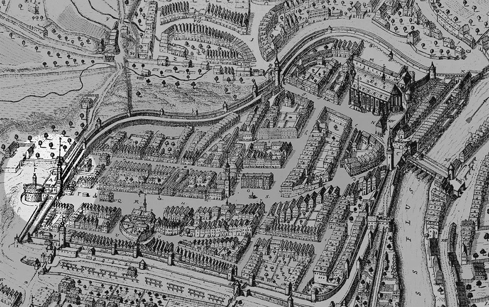 Kupferstich Goerlitz 1714 Petzold reichenbacher turm