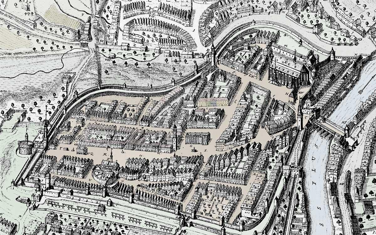 Kupferstich Goerlitz 1714 Petzold
