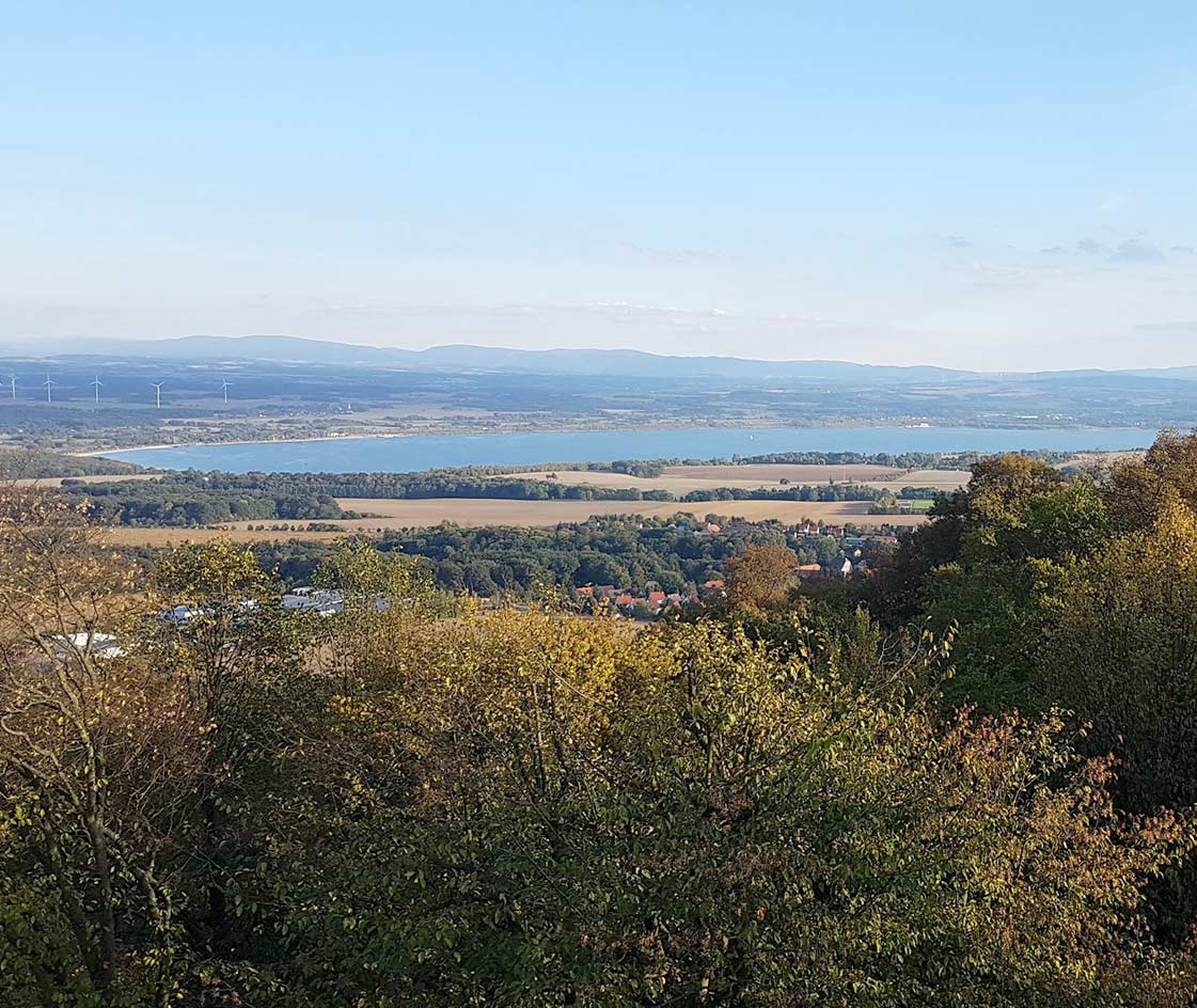 Landeskrone Blick Königshainer Berge
