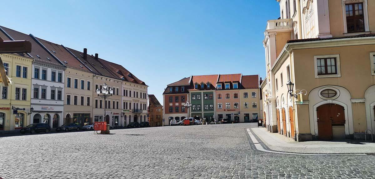 Loebau Altmarkt Stadtmitte