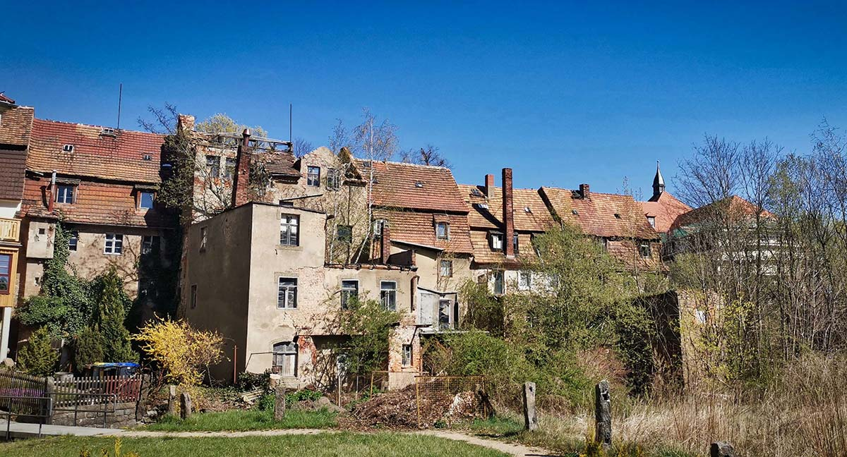 Loebau Unsanierte DDR Stadtviertel erleben