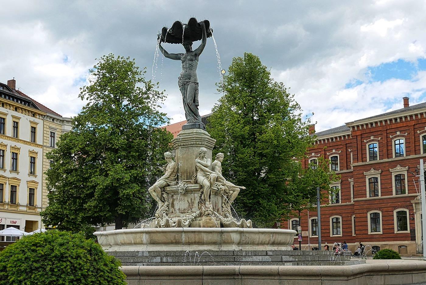 Muschelminna Brunnen in Görlitz