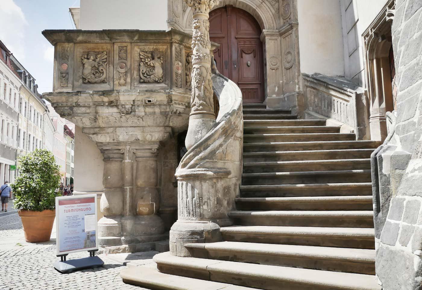 Rathaustreppe in Görlitz