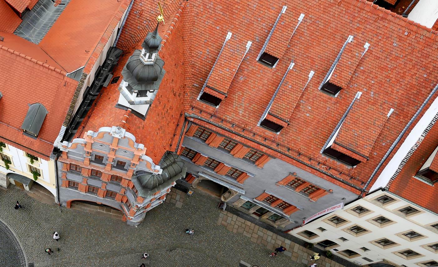 Rathausturm Blick auf schlesische museum