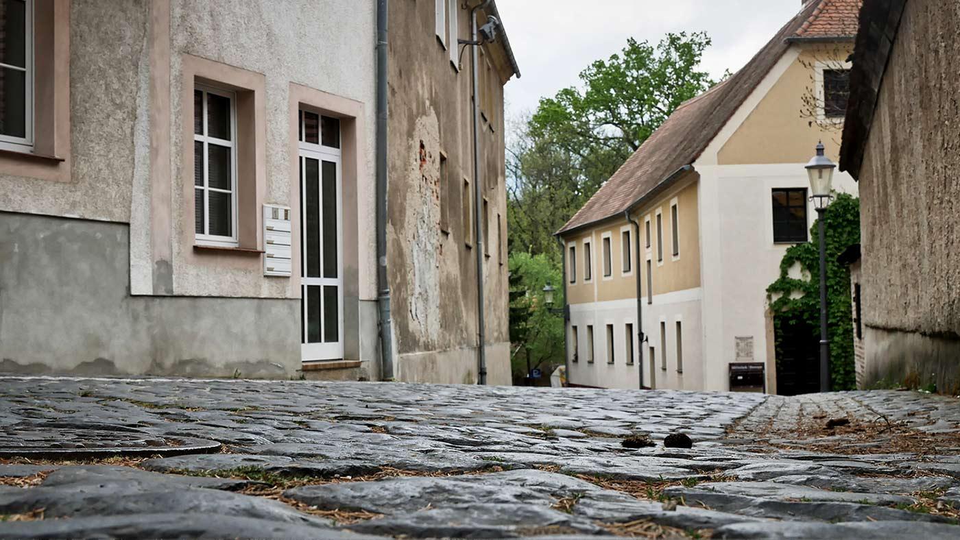 historisches Kopfsteinpflaster Rothenburg Oberlausitz