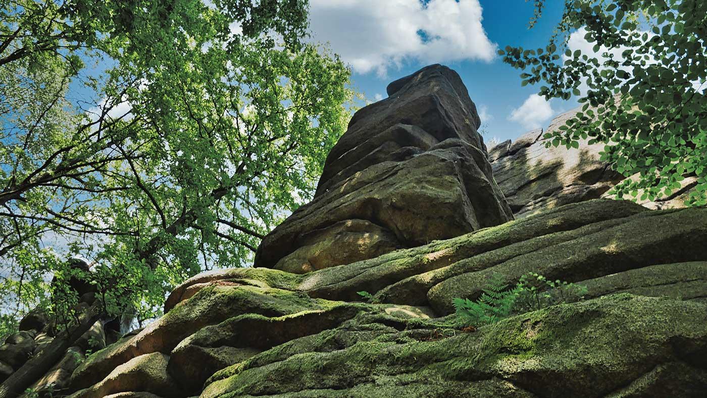 Totenstein Felsformation Koenigshainer Berge