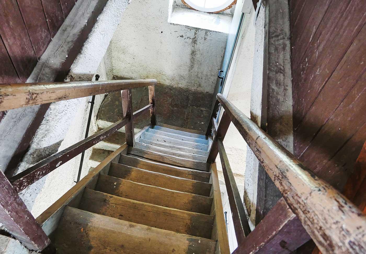 Treppe im Turm Czorneboh