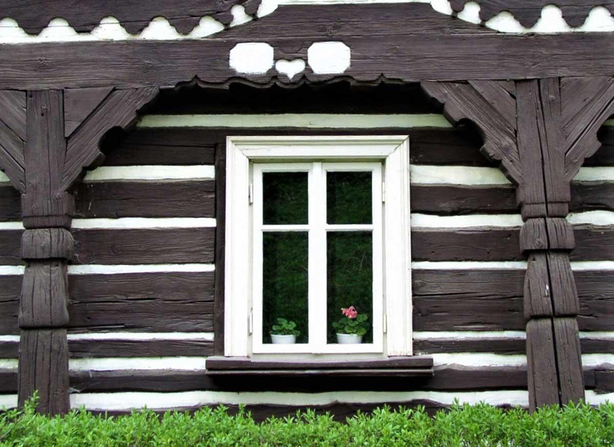 Umgebindehof Fenster