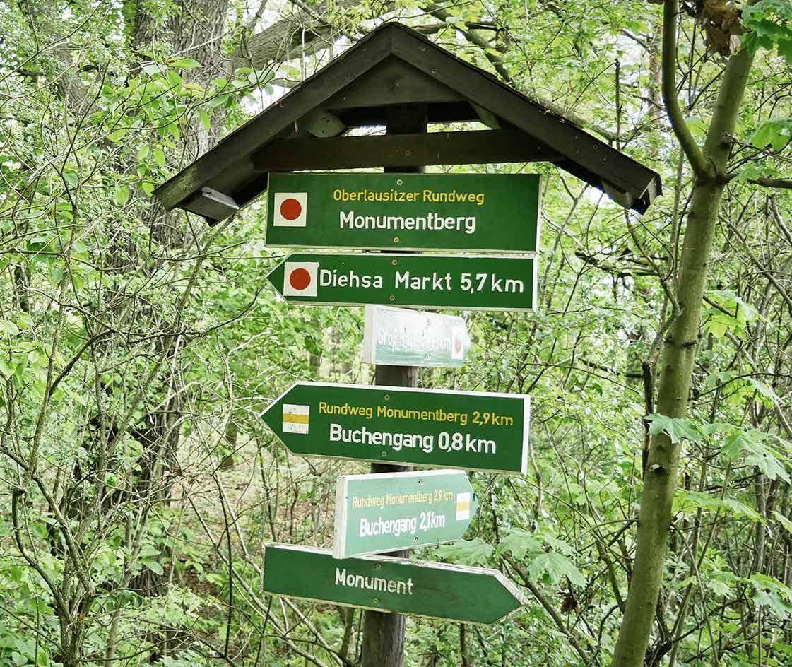 Wanderwege Rundweg Monumentberg